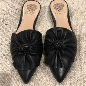 Vince Camuto black leather sandals/mules NWOB 8.5